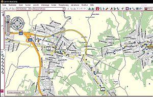 Screenshot Strassenkarte